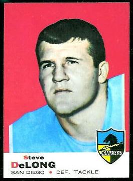Steve DeLong 1969 Topps football card