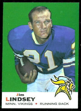 Jim Lindsey 1969 Topps football card