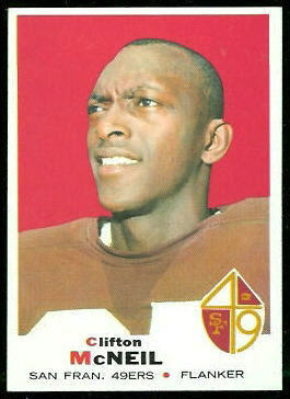 Clifton McNeil 1969 Topps football card