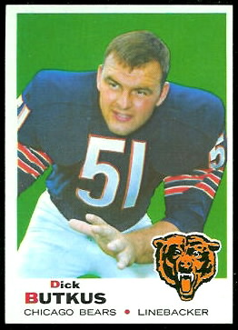Dick Butkus 1969 Topps football card