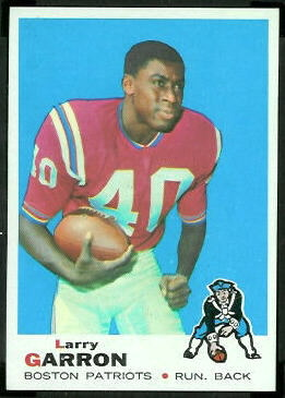 Larry Garron 1969 Topps football card