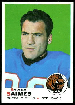 George Saimes 1969 Topps football card