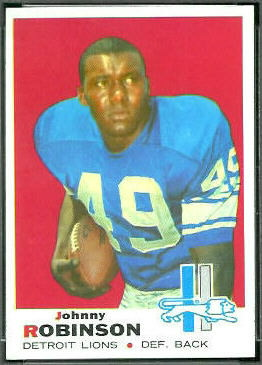 John Robinson 1969 Topps football card