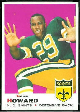 Gene Howard 1969 Topps football card