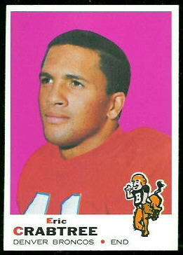 Eric Crabtree 1969 Topps football card