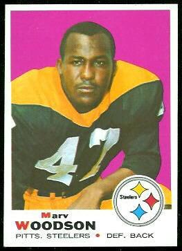 Marv Woodson 1969 Topps football card