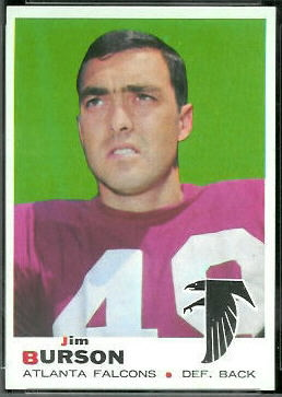 Jim Burson 1969 Topps football card