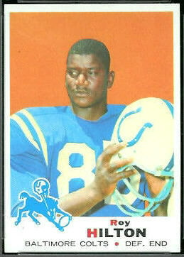 Roy Hilton 1969 Topps football card