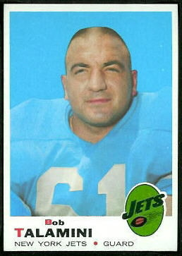 Bob Talamini 1969 Topps football card