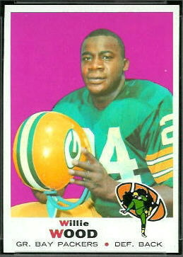 Willie Wood 1969 Topps football card