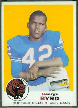 George Byrd 1969 Topps football card