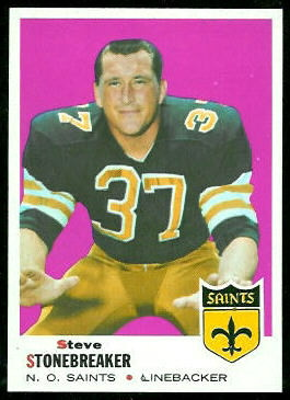 Steve Stonebreaker 1969 Topps football card