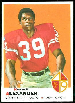 Kermit Alexander 1969 Topps football card