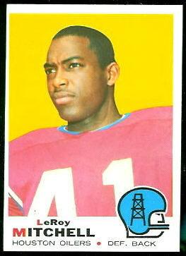 Leroy Mitchell 1969 Topps football card