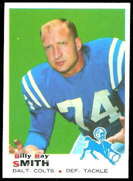 Billy Ray Smith 1969 Topps 185 Vintage Football Card