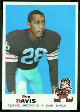Ben Davis 1969 Topps football card