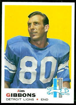 Jim Gibbons 1969 Topps football card