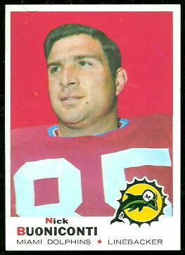 Nick Buoniconti 1969 Topps football card