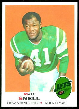 Matt Snell 1969 Topps football card