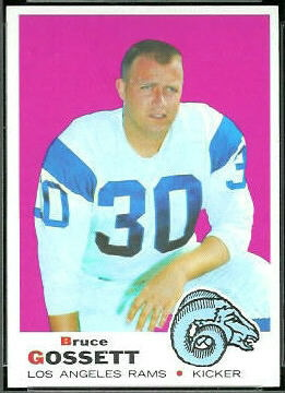 Bruce Gossett 1969 Topps football card