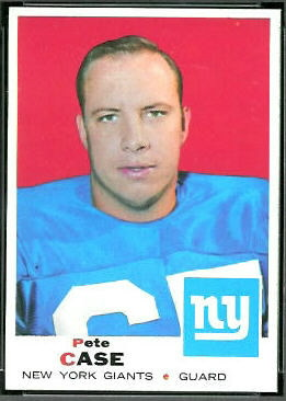 Pete Case 1969 Topps football card