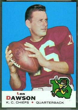 Len Dawson 1969 Topps football card