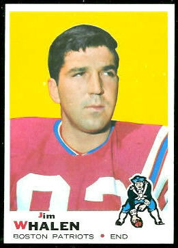 Jim Whalen 1969 Topps football card