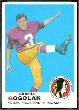 Charlie Gogolak 1969 Topps football card