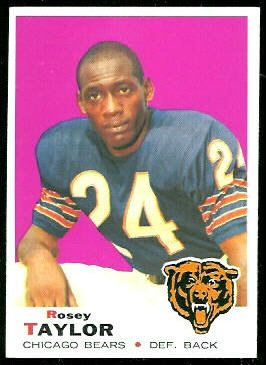 Roosevelt Taylor 1969 Topps football card
