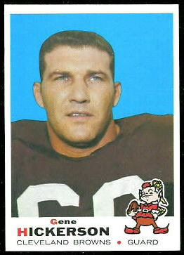 Gene Hickerson 1969 Topps football card