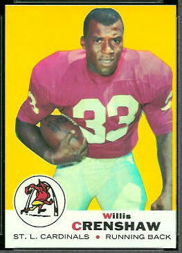 Willis Crenshaw 1969 Topps football card