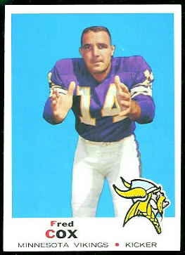 Fred Cox 1969 Topps football card