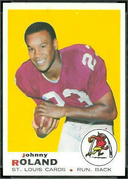 Johnny Roland 1969 Topps football card
