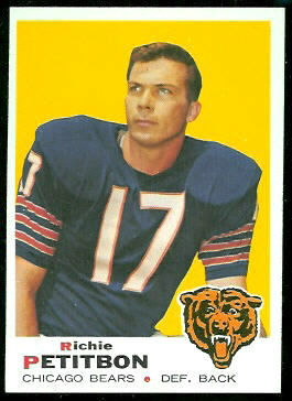 Richie Petitbon 1969 Topps football card