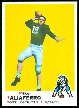 Mike Taliaferro 1969 Topps football card