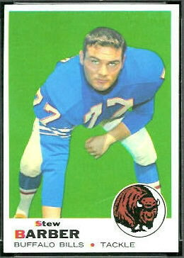 Stew Barber 1969 Topps football card
