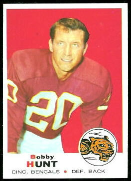 Bobby Hunt 1969 Topps football card
