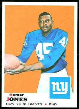 Homer Jones 1969 Topps football card