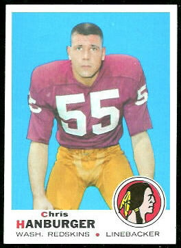 Chris Hanburger 1969 Topps football card
