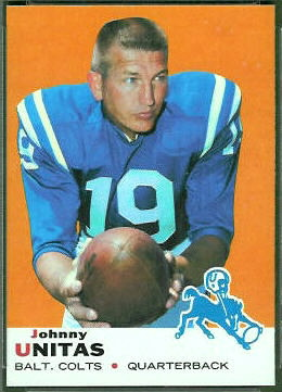 John Unitas 1969 Topps football card