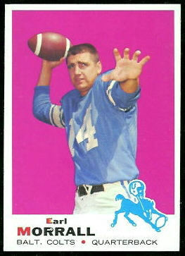 Earl Morrall 1969 Topps football card