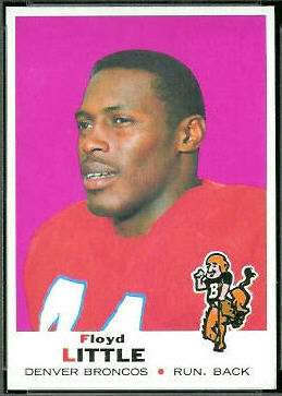 Floyd Little 1969 Topps football card