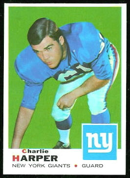 Charlie Harper 1969 Topps football card