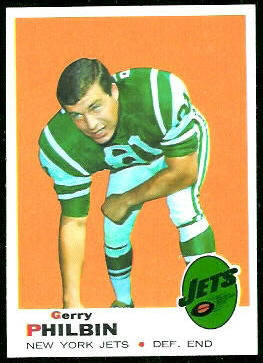 Gerry Philbin 1969 Topps football card