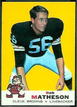 Bob Matheson 1969 Topps football card