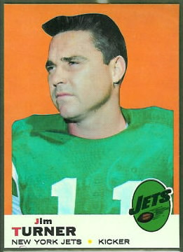 Jim Turner 1969 Topps football card