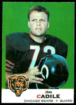 Jim Cadile 1969 Topps football card