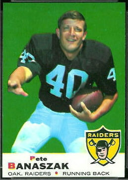 Pete Banaszak 1969 Topps football card