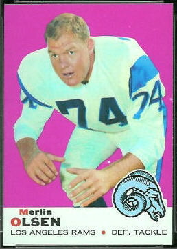 Merlin Olsen 1969 Topps football card