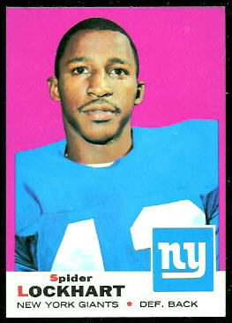 Spider Lockhart 1969 Topps football card